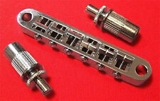 Guitar Parts Tune-o-matic BRIDGE Tuneomatic - w/ Large Post & Bushing - CHROME