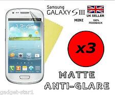 3x HQ MATTE ANTI GLARE SCREEN PROTECTOR COVER GUARD SAMSUNG GALAXY S3 MINI i8190