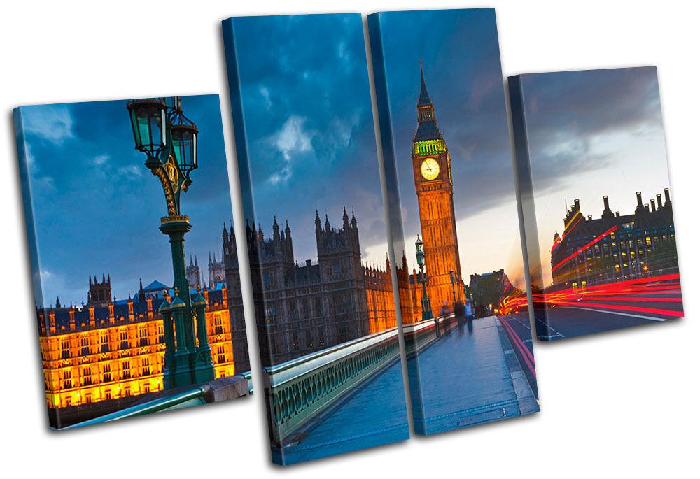 London Big Ben City City City MULTI TELA parete arte foto stampa 14fd39