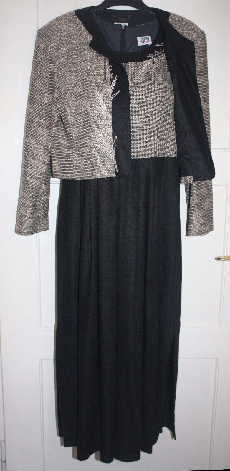 Trachtenkleid Mit Jacke Landhauskleid Schwarz Gr 40 COUNTRY Lang Nnqhxm8437 Neue Kleidung