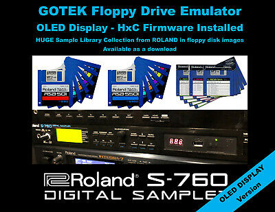 16GB Plug /& Play USB Floppy drive emulator for Roland S-760 Sampler