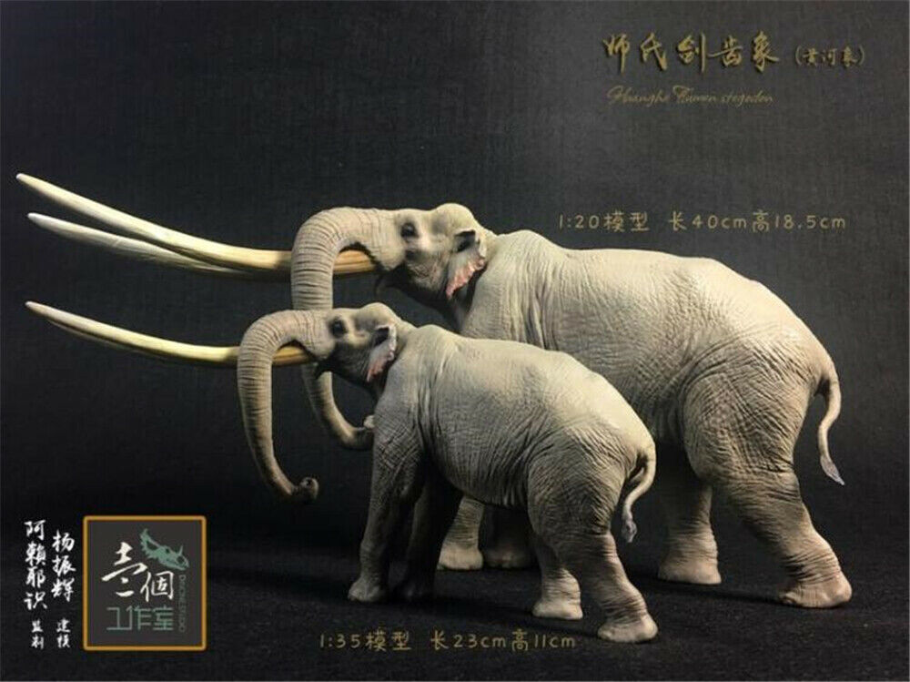 Huanghe River stegodon Statue Statue Statue Figure Elephant Animal Model Collector Decor Gift c922bf