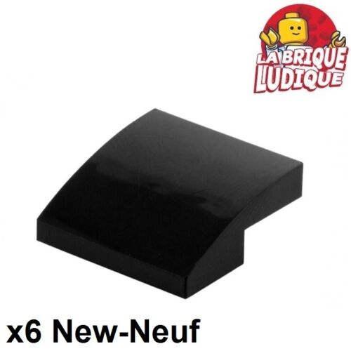6x Slope curved pente courbe 2x2 noir//black 15068 NEUF Lego