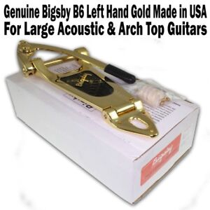 Genuine-BIGSBY-B6-Vibrato-Made-in-USA-GOLD-for-Large-Arch-Top-American-NEW