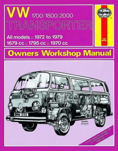 H0226 VW Transporter 1700 Haynes Repair Manual 1972 to 1979 1800 /& 2000