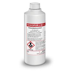 Ehrlich Tickopur J 80 U Entoxidationsmittel Für Ultraschallreinigung 1 Ltr./19,90 Euro StäRkung Von Sehnen Und Knochen