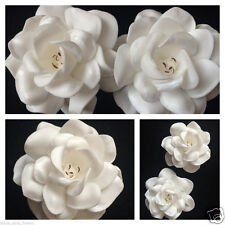 """2.75"""" FOAM GARDENIA ROSE FLOWER HAIR CLIP Ivory White"""