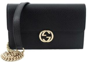 0e55f8c7daad Image is loading NIB-GUCCI-INTERLOCKING-G-CROSSBODY-CHAIN-CLUTCH-MINI-