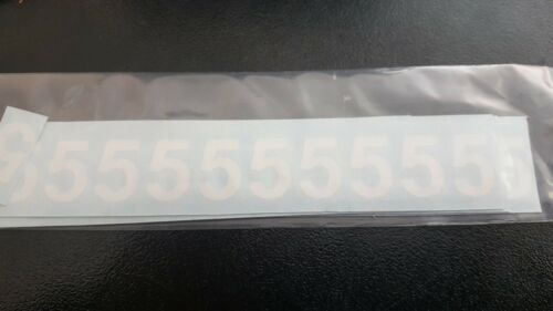 20 mm White Computer cut numbers 09 for Menu Boards pack of 440