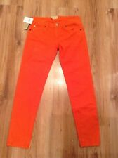 "BNWT "" RALPH LAUREN "" W24 (UK Size 6/8) WOMENS CROP SKINNY ORANGE JEANS"