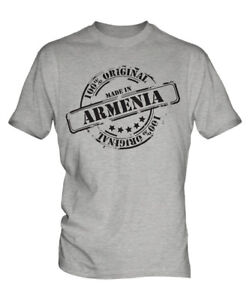 MADE IN ARMENIA MENS T-SHIRT GIFT CHRISTMAS BIRTHDAY 18TH 30TH 40TH 50TH 60TH