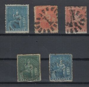 C2679-BRITISH-BARBADOS-BRITANNIA-SG-19-29-30-43-52-USED-CV-195