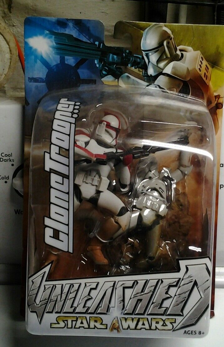 STAR WARS UNLEASHED UNLEASHED UNLEASHED  2003 Hasbro  Red Variant CLONE TROOPER  Large Statue Figure 8dc53c