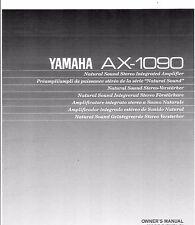 Yamaha  Bedienungsanleitung user manual owners manual  für AX - 1090 englisch
