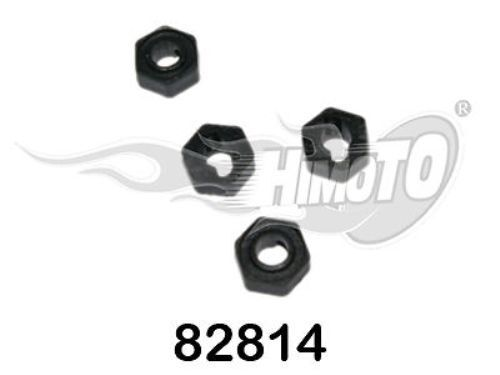 82814 Paddle Wheels Hex from 9mm X Models 1:16 Wheel Hex 4pcs Himoto
