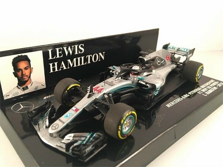 2018 Mercedes AMG F1 Lewis Hamilton World Champion by Minichamps in 1 43 Scale