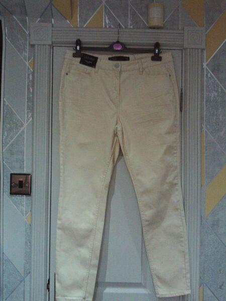 """- Bella Avorio Next """"piegate Annodate"""" Skinny Fit Jeans Taglia 16r Bnwts Acquista Sempre Bene"""