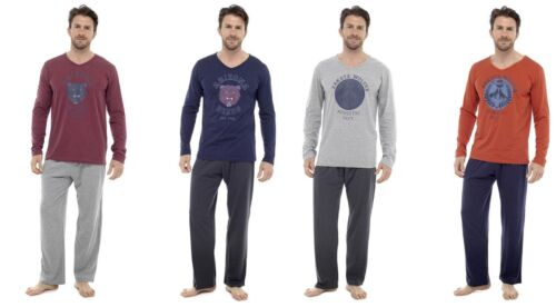 MENS LONG SLEEVE WITH 2 DESIGNS 4 COLOURS  JERSEY LOUNGE, PJ SET