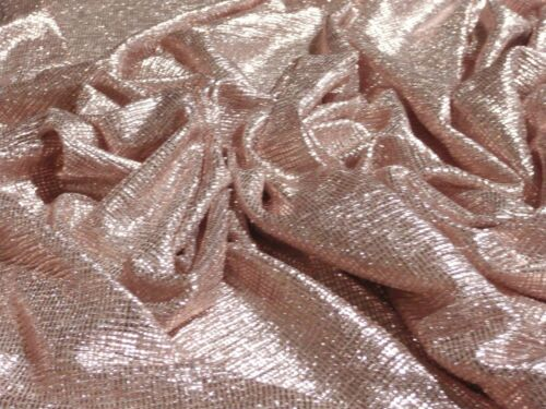 Ligero Plisse Foil-Oro Rosa-Tela del vestido-Libre P/&P