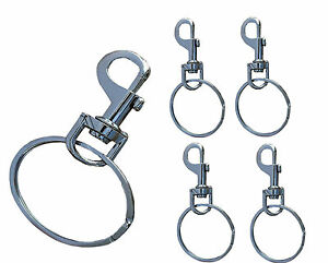 Heavy Duty Extra Large Belt Jailor Hipster Keyring Split Security Ring 58mm UK