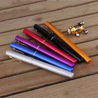 Mini Portable Aluminum Alloy Pocket Pen Shape Fish Fishing Rod Pole With Reel F7