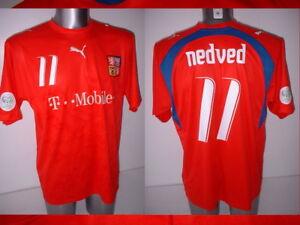 86532ec1d4e Image is loading Czech-Republic-Nedved-Puma-L-Shirt-Jersey-Football-