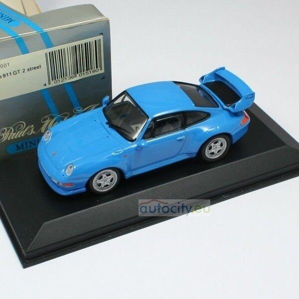 MINICHAMPS PORSCHE 911 (993) (993) (993) GT 2 STREET azul 430065001 17640a