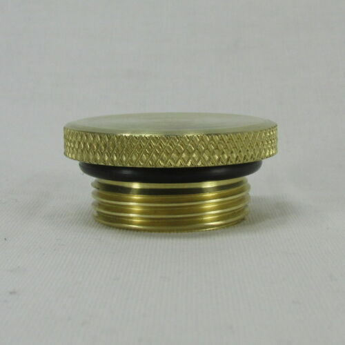 Polished BRASS Vented Motorcycle Fuel Tank Gas Cap w// ALUMINUM Bung MADE IN USA
