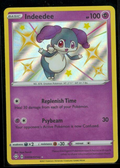Pokemon SHINY INDEEDEE SV059/SV122 Shining Fates RARE HOLO - MINT