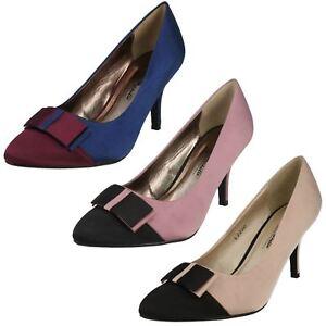 Anne-Michelle-Ladies-Court-Shoes-Nude-Navy-Pink-L2R220-UK-3X8-R22B