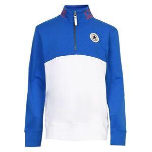 cb151c7f1f7e3c Designer Converse  All Star  boys half zip sweat top Blue White WAS ...