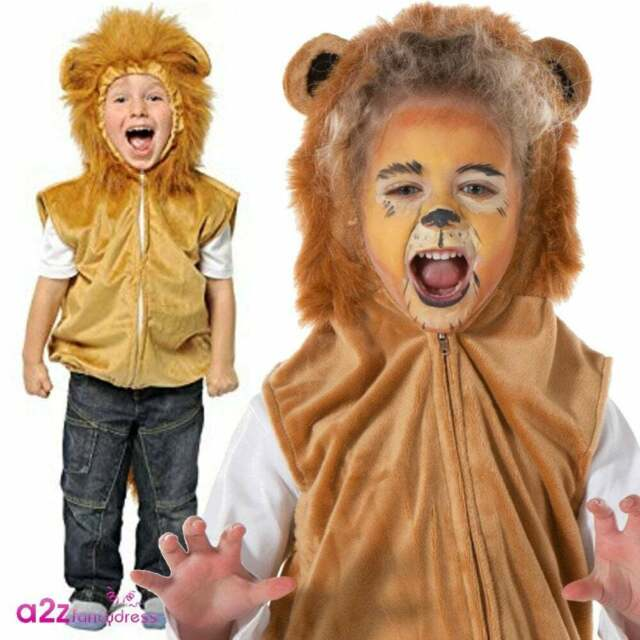 Childrens Zoo Jungle Farm Animal Fancy Dress Costume ALL SIZES