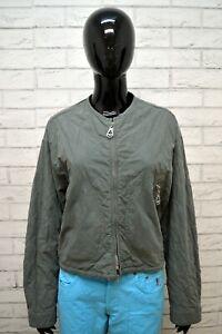 Giubbotto-ARMANI-JEANS-Donna-L-Giubbino-Giacca-Verde-Jacket-Woman-Cotone-Vintage