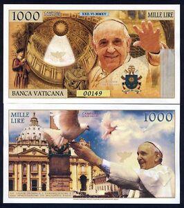 Vatikan 1000 Lire, 2018 Private Ausgabe kamberra, UNC > Papst Franziskus