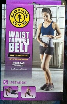 New Gold's Gym Waist Trimmer Belt Reduce Belly Fat Quickly NIB Weight Loss