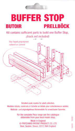 PECO SL-940 1 x Sleeper Type Plastic Buffer Stop 5 Part Kit /'G-45 mm/' Gauge 1st