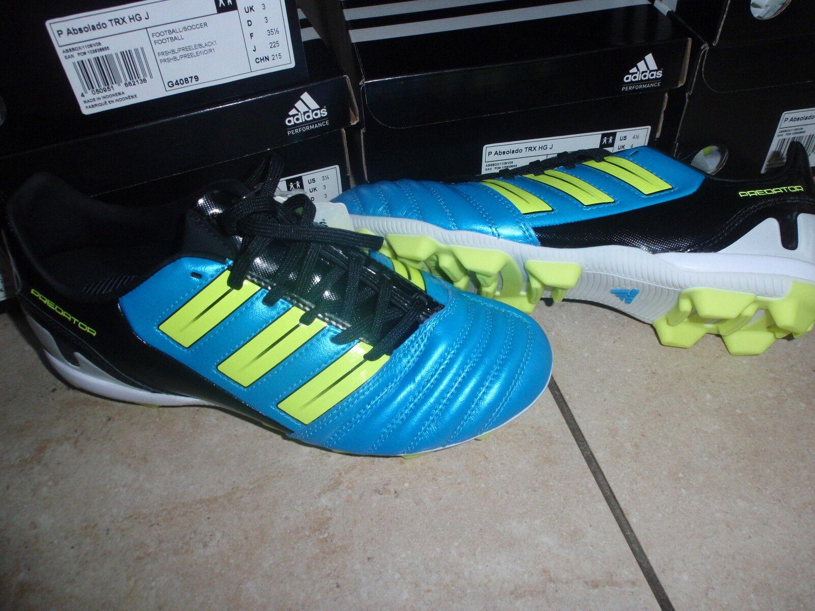 Adidas nuevas botas de fútbol TRX azul amarillo negro (Colors de neón) tamaño 38 2 3