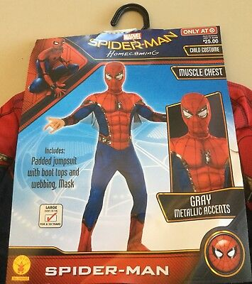 Rubie's Spider-Man Homecoming SpiderMan Muscle Chest Children/'s Costume Large