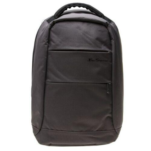 New Mens Ben Sherman Grey City Polyester Backpack Backpacks