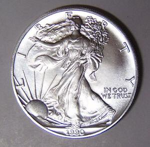 1990-American-Silver-Eagle-BU-1-oz-US-1-Dollar-U-S-Mint-Brilliant-Uncirculated