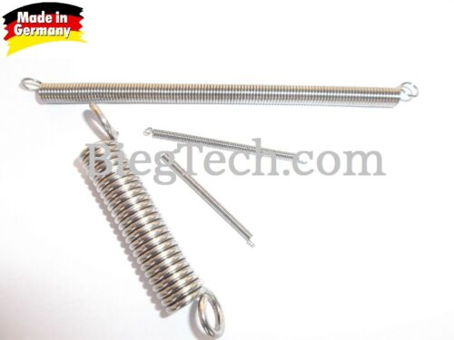 Zugfeder Feder Federstahl DIN 10270-3 Nichtrostender Edelstahldraht S 2 mm