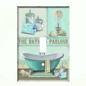 Bath Parlour Light Switch Plate Wall Cover Bathroom Decor