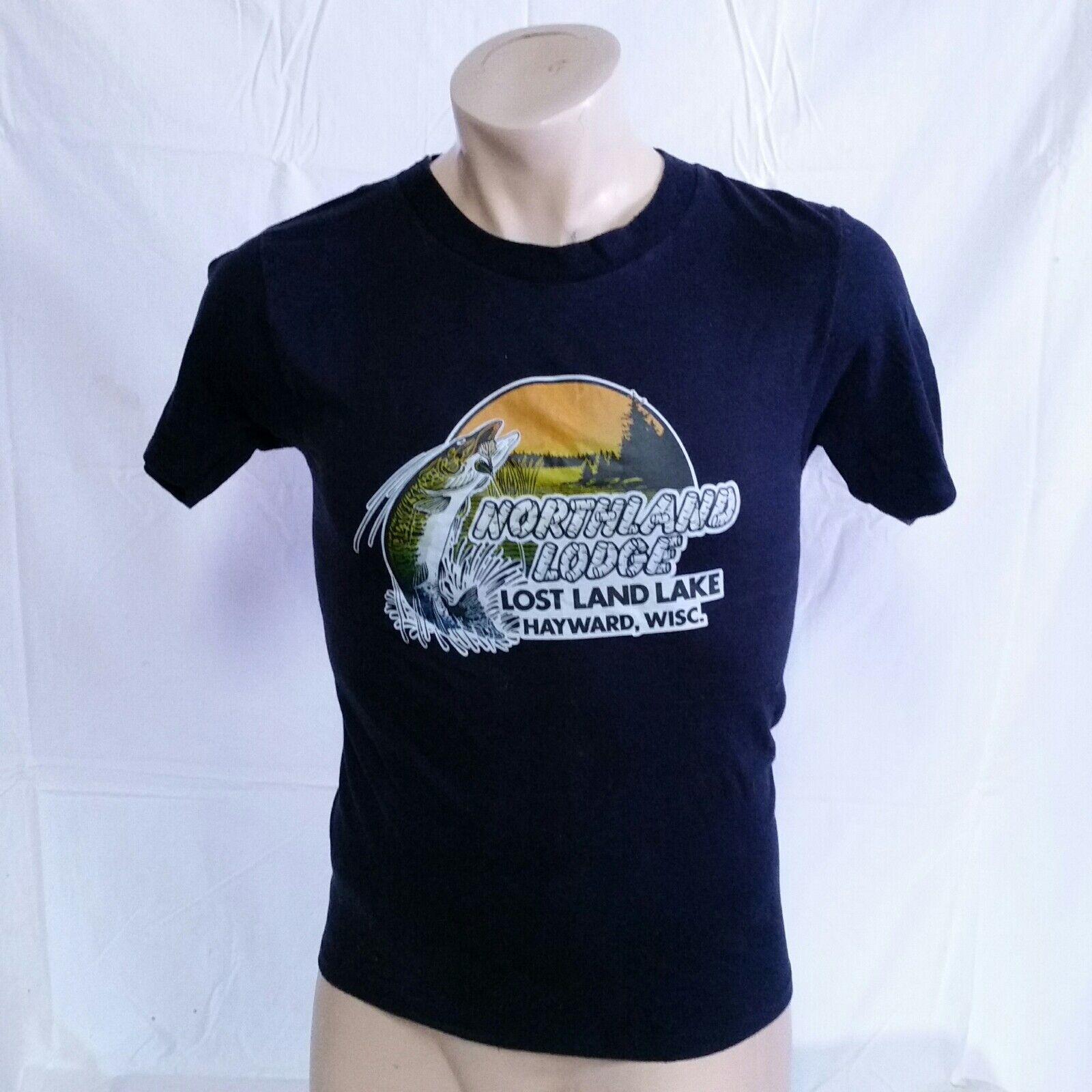 VTG 80s Wisconsin T Shirt 50/50 Fishing Tourist Tee Vacation Band Farming Large