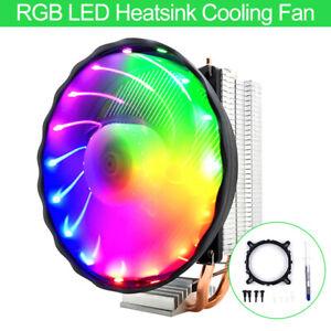 FASHION-RGB-LED-VENTOLA-DI-RAFFREDDAMENTO-PER-DISSIPATORE-CPU-Cooler-per-Intel-LGA-1150-1151-AMD