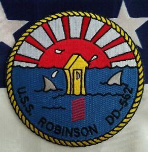 USS Robinson DD 562 Destroyer Ship USN Military Navy Patch
