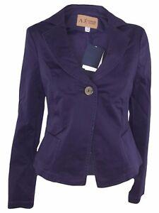 armani jeans giacca donna viola prugna taglia it 42 m medium 1 ... a4851b79a5cc