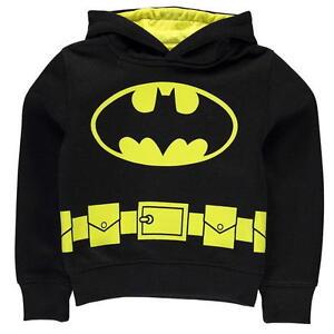 Noir-pour-Garcons-Batman-Capuche-Pull-Capuche-Haut-2-3-4-Ans-5-6