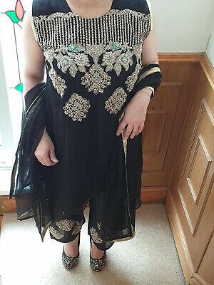 Angemessen Designer Chiffon Embroidery Suit Stitched Lined Trouser Kameez Chiffon Dupatta 100% Original
