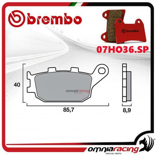 100% Waar Brembo Sp Pastiglie Freno Sinter Posteriori Honda Cbr600f/supersport 1991>1994