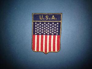 USA United States Of America Flag Shield Biker Vest Trucker Hat Patch Crest B